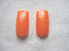 40 Hot Neon Orange Full False Nails