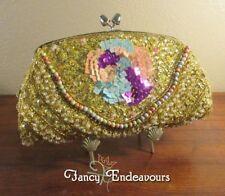 Mardi Gras Colors Evening Beaded Purse Bag Sequins Rhinestones.......CEM