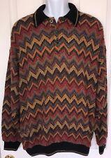 Vintage TUNDRA Canada Mercerized Cotton Knit Biggie Cosby Sweater L