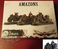 Space Crusade PIC301104 Amazons (3) Miniatures Female Scouts on Bikes Crusaders
