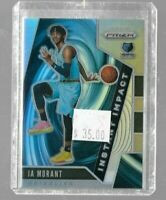 Ja Morant 2019 Panini Prizm Instant Impact silver rookie card -- Grizzlies