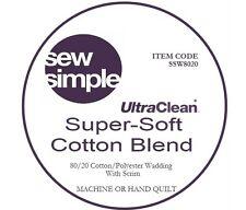 "Sew Simple: 90"" Super-Soft 80/20 Cotton Blend Wadding 90""(2.2m)wide x 39""(1m)"