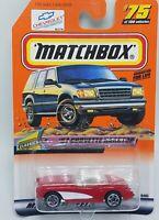 1999 Matchbox CLASSIC #75 '57 Corvette Hardtop - Red  & White - New