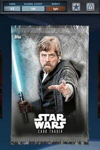 Topps Star Wars Digital The Last Jedi Inception Pack Art Epic 100cc
