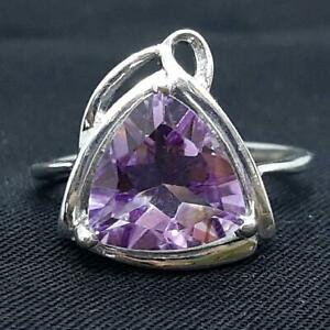 World Class 4.40ctw Amethyst 925 Sterling Silver Ring Size 7.25 3.8g