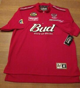 Dale Earnhardt Jr. NASCAR Embroidered Shirt Red Chase Authentic #8 Car XL NEW