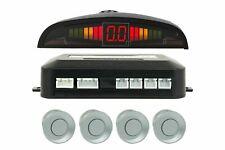 Kit 4 Sensori Di Parcheggio Grigio Per Auto Con Display Suono Led Acustico