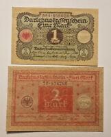 BERLIN 1 MARK, 2 MARK 1920 DARLEHNSKASSENSCHEINE (9240)