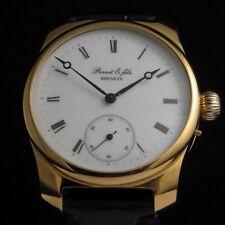 Perret Fils Vintage Mens Wrist Watch Brenets Mechanical Gold Men's Wristwatch