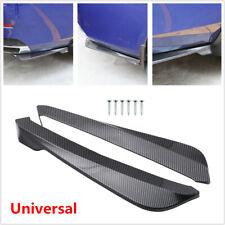 2Pcs Carbon fiber Color Universal Car Bumper Spoiler Rear Lip  Wrap Angle Shovel