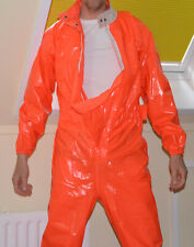 PVC plastic Regenkombi rainsuit Regenoverall combinaison shiny nylon cal surf