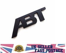 New ABT Black Matt emblem badge 3D abs sticker vw Golf 5 6 7 MK6 MK7 Polo decal