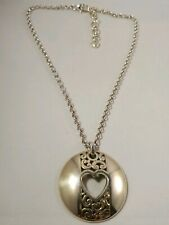 Heart Necklace Brighton Silver