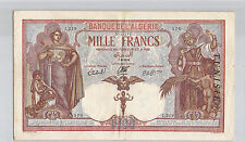 TUNISIE 1000 FRANCS 7.8.1939 J.219 N° 5458576 PICK 11b