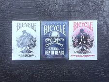 Bicycle Karnival Deck 3 Decks-Original,Death Heads(BLUE),Assassins(RED)FREE POST