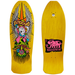 """Black Label 10.25"""" Yellow Stain Jeff Grosso Forever 1989 Re-Issue Shaped Deck"""
