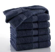Hotel Bath Towels Machine Washable 6 Pack 30X52 Cotton Navy Bulk Home Gym Pool