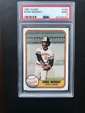 1981 Fleer #184 Eddie Murray Card Graded PSA 9 Mint HOF
