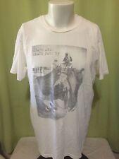 Death Star Skate Park Darth Vader Men's White T Shirt Size Large Junk Food
