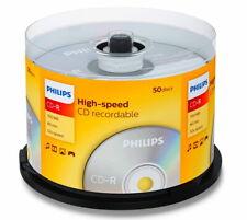 50 Philips Rohlinge CD-R 80Min 700MB 52x Spindel