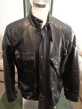 $1800 Polo Ralph Lauren Black Leather Moto Motorcycle Biker Jacket Coat L