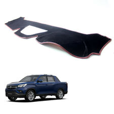 Velvet Non-Slip Dash Cover BL w/ Red Stitch for 2019 2020 Ssangyong Musso XLV