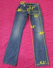 139$ NWT MISS SIXTY DY9008 FERGUSON sz W25 L34 jeans boot cut cotton women