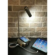Adesso Kaye Charge LED Desk Lamp, Brushed Steel - 3162-22