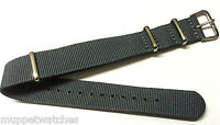 24mm QUALITY NYLON MILITARY ARMY NATO DIVERS G10 WATCH STRAP BAND with PINS