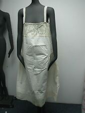 Antique Linen with Crochet Flowers & Hand Made Lace Edge Ladies Nightgown 38""
