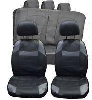 VW Golf MK1 MK2 MK3 UNIVERSAL BLACK & Grey PVC Leather Look Car Seat Covers Set