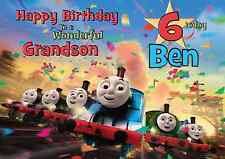 Thomas The Tank Engine Personalised A5 Birthday Card Son Brother Nephew Name Age