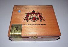 ARTURO FUENTE SQUARE CORONA NATURAL EMPTY WOOD CIGAR BOX FOR CRAFTING