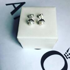 Pandora Silver Pearl Stud Earrings (ALE S925)
