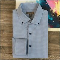 Peter Millar Summer Comfort E4 Men's Size M Shirt Plaid Button Down Long Sleeve