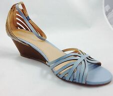 Large size Ladies Wedge Baby Blue Strap Sandals Shoes UK Size 11 PLUS SIZE