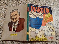 DIABOLIK ANNO VI (SESTO) ORIGINALE N.24 DEL 1967 MB/OTTIMO CON ADESIVI