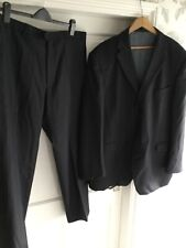 """Marks And Spencer Collezione Mens Dark Blue Suit Size Jacket 48"""" Trousers 40"""""""