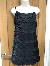 Reiss Woman Black Silk Layered Mini Dress Size 8