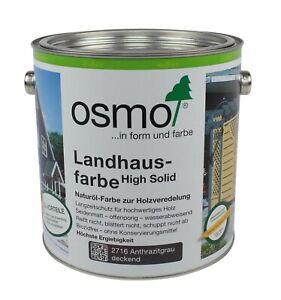 Hochdeckende Holzfarbe Osmo High Solid Landhausfarbe Farben Holzöl 2,5L Diverse