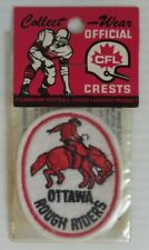 1970's OTTAWA ROUGH RIDERS CFL FOOTBALL CREST PATCH -  NEW      (INV28759)