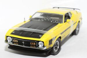 1:18 Ford Mustang Mach 1 (1971–1973)   gelb   SunStar   Modellauto PKW Musclecar