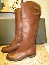 Vince Camuto Keaton Distressed Riding Boots 5.5 M Mocha New in Box