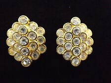 "Grandeur""Earrings Goldtone New w/Tags Nolan Miller Glamour Collection""Cluster Of"
