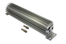"Universal 18"" Dual Pass Finned Aluminum Transmission Cooler Hot Rod Rat Rod SBC"