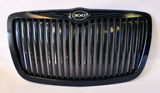 Gloss Black Vertical Front Grill w/ 300 Badge Fits Chrysler 300 300C 2005-2010