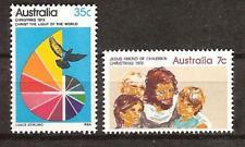 Australia # 539-540 Mlh Christmas 1972