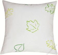 """Green/Yellow Spring Leaves decorative throw pillow cover/cushion cover 18x18"""""""