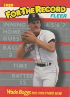 FREE SHIPPING-MINT-1989 Fleer For The Record Boston Red Sox #1 Wade Boggs