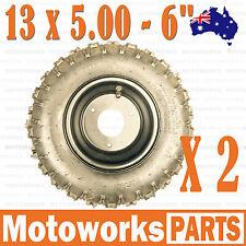"2x 13 X 5.00 - 6"" Inch Tire & Rim Wheel ATV Quad Scooter Bike Gokart Buggy Mower"